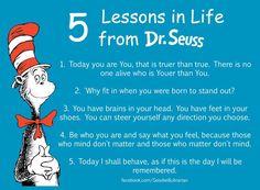 Dr. Seuss Life Lessons