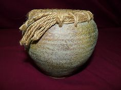 Vintage Hand Made Stoneware Clay Pottery Vase