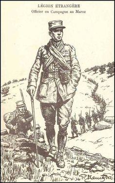 French; Foreign Legion, Officer on Campaign in Morocco.