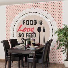#Vliestapete - No.KA27 Food Is #Love - Fototapete Quadrat #Küche #kitchen #essen #food #kochen #Appetit