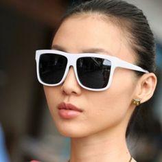 Square Sunglasses White - One Size Rose Gold Pendant, Sunglasses Women, Fashion, Moda, Fashion Styles, Fashion Illustrations