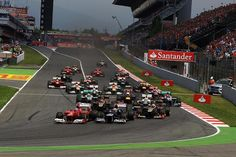 Formula 1 Spanish GP 2013 : Grid (Updated)