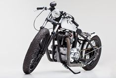 Helrich's latest bike is this 1973 Triumph 750 TR7/Tiger