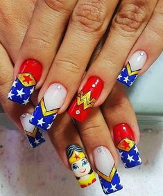 The easiest way to do it is by using nail art. When Summer comes, nail art is one thing that we can think of to add. Acrylic Nails Stiletto, Simple Acrylic Nails, Summer Acrylic Nails, Acrylic Nail Art, Summer Nails, Gel Nails, Manicure, Nail Art Designs, Acrylic Nail Designs