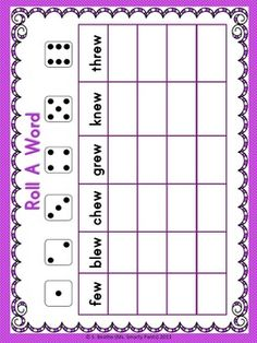 Change to the rules of E and have the students write a word following the rule they rolled