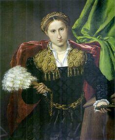 LOTTO:  Portrait of Laura da Pola, wife of Febo da Brescia (1543) #TuscanyAgriturismoGiratola