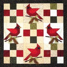 Invierno Cardenales Quilt