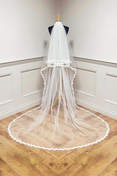 Stunning two tier Cathedral #veil. Ivory or White. #madeinireland. Top blusher tier. Online or in store sales. Bridal by Tamem Michael, Wedding Veils, Belts, Accessories Online Shop, Dublin, Ireland.