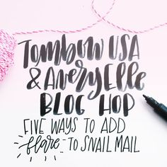 5 ways to add flair to snail mail Cool Lettering, Brush Lettering, Tombow Usa, Hand Lettering Tutorial, Beautiful Calligraphy, Addressing Envelopes, Illuminated Letters, Writing Instruments, Types Of Art