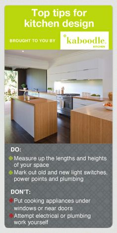 check out more handy dou0027s and donu0027ts for planning your new kitchen