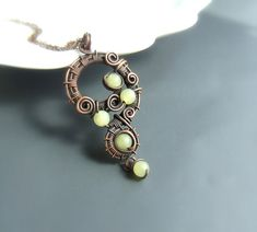 #Green #jade #necklace #natural #stone #fantasy#fairy #rustic