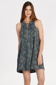 Palm Print Swing Dress
