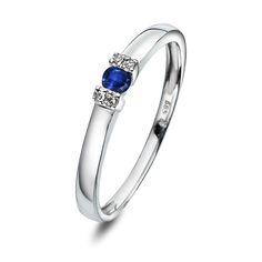 Ring i gull med diamant WP Gull, Sapphire, Wedding Inspiration, Rings, Jewelry, Check, Jewlery, Jewerly, Ring