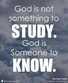 God Know Him