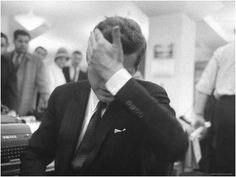 Stan Wayman - Senator John F. Kennedy During the Primary Election Night