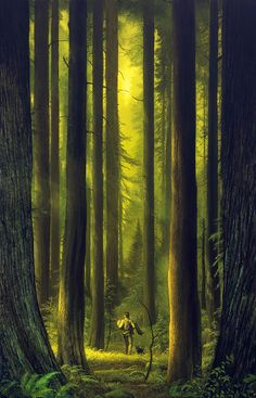 """The Dark Tower: The Clearing by Michael Whelan... """"In this haze of green and gold."""""""