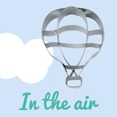 Ausstecher in Form eines Heißluftballons. Backen Sie Urlaubs- und Resieträume auf den Tisch! #Ausstecher #Ballon #Heißluftballon