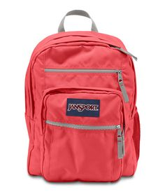 1236aaf49480b4 Jansport Big Student Backpack - Coral Dusk Available at  www.canadaluggagedepot.ca Red Jansport