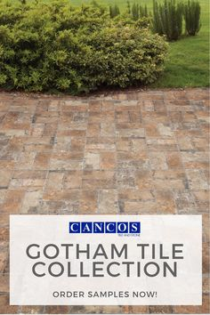 The Gotham Tile Collection is perfect for a back patio! This brick-look tile creates a rustic feel that will match almost any yard aesthetic. As an added bonus, its durability will help it withstand the heavy traffic of this area during the BBQ months! Brick Look Tile, Outdoor Tiles, Back Patio, Rustic Feel, Walkway, Gotham, Bbq, Yard, Collections