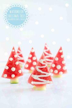 watermelon christmas trees - Summer Christmas