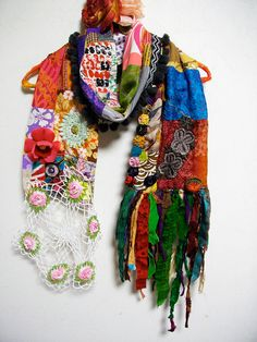 RESERVED  Patchwork Bohemian Gypsy Ethnic Silk by ApricotCircus, $125.00