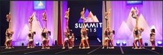 Cheer Athletics Sassycats at The Summit 2015. They're wearing panthers' uniforms from worlds 2013!!! I'm so happy rn.