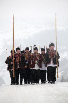 carolling group, Kruvorivnja, Ivano-Frankivsk UKRAINE by Roman Pechizhak,