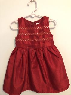 27a56cfa8c3c Gymboree Toddler Baby Girl Size 18-24 months Christmas Holiday Red Dress  #fashion #