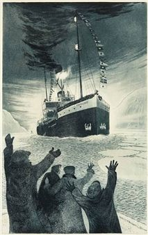 Black Ice: David Blackwood Prints of Newfoundland Art Gallery Of Ontario, Science Fiction, Canada Images, Newfoundland And Labrador, Nautical Art, Prince Edward Island, Ship Art, Canadian Artists, Great Artists