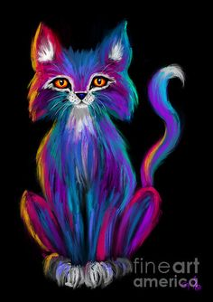 Colorful Cat by Nick Gustafson