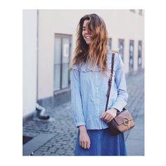 "125 likerklikk, 1 kommentarer – SECOND FEMALE (@secondfemale) på Instagram: ""Shirt Day #sunday #shirt #blue #stripes #evalineshirt #summer @miekirstinequist"""