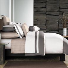 Ampersand® Color Block Duvet Cover - Slate, 100% Cotton Sateen