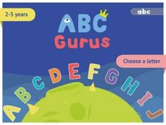 ABC Gurus - ABC Gurus is an incredibly fun an interactive letter learning app for iPhone and iPad. This app is a great way for kids to learn about letters while having fun. On the left side of the screen, they can decorate their letter with hats, eyes, mouths, and accessories. Click the image for our full review.