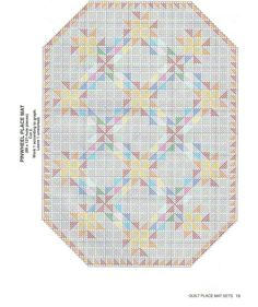 PLACEMATS - QUILTS  A - 11/14 ~ **Easy to follow this graph-photo for cutting canvas and stitching**
