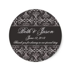 Grey Berry Cluster Wedding Thank You Stickers  sc 1 st  Pinterest & Pretty Blush Pink Grey Peony Swirl Scroll Wedding Paper Plate | Grey ...