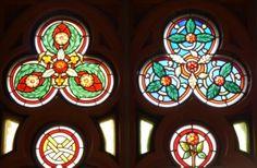 bunte Glasfenster, Schloß Drachenburg - Foto: S. Hopp