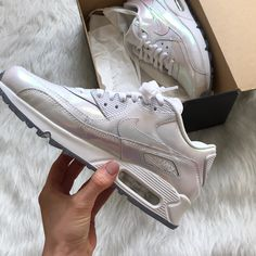 low priced 8c24b 1c757 Nike Shoes    Brand New  Nikeid Air Maxes   Color  Silver White