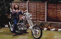John Bonham with Triumph Chopper.