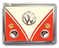 VW Red Classic Retro Cigarette Case Lighter Wallet by HiCoolCase