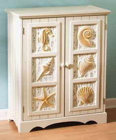 Another great find on #zulily! Shell Two-Door Cabinet #zulilyfinds - easy to add shells to cabinet