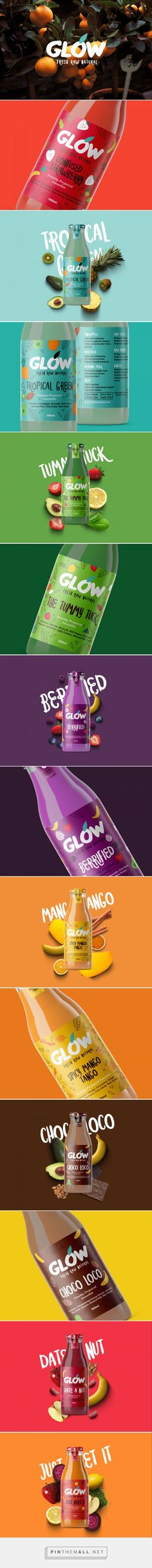 Glow - Fresh, Raw & Natural Juice & Smoothies Packaging by Meroo Seth, Nachiket Jadhav, and Mechi Co.design | Fivestar Branding Agency – Design and Branding Agency & Curated Inspiration Gallery  #juice #juicepackaging #packaging #package #packagingdesign #packaginginspiration #design #designinspiration