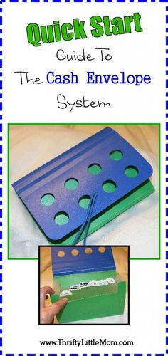 Quick Start Guide To Cash Envelope System.  Make your own money holder and get your budgeting underway in a simple and effective way. save money quickly, quick ways to save