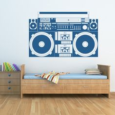 stereo wall decal