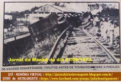 IJUÍ - RS - Memória Virtual: Descarrilamento de trem e a falta de atenção na pa...