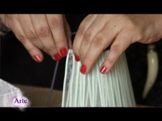 Cómo forrar pantallas para lámparas (tutotrial-DIY) | Restaur-arte - YouTube