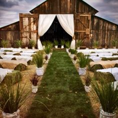 (The bales as seating has actually been pulled off really well) Nothing else truly matters but this idea right here. This is the same exact picture I've had in my head for years. To be able to walk down the aisle, barefoot with the cool crisp grass between my toes. Like when I was a kid and nothing else mattered. Because nothing else will matter on that day but what is at the end of that aisle.