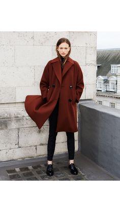 rust coloured coat