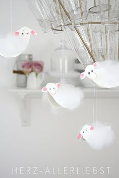 Sheep for chandelier - perfect decorations for Easter