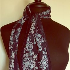 Seasonal's Scarf This scarf is very light and fashionable that you can set with the dress, shirts, and coats with different colors like dark blue, black, cream , white, and red Accessories Scarves & Wraps