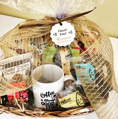 Create a perfect coffee lover custom basket with us! Coffee Baskets, Burlap, Reusable Tote Bags, Create, Hessian Fabric, Jute, Canvas